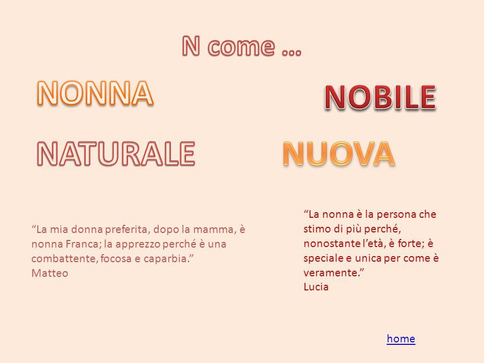NONNA NOBILE NATURALE NUOVA