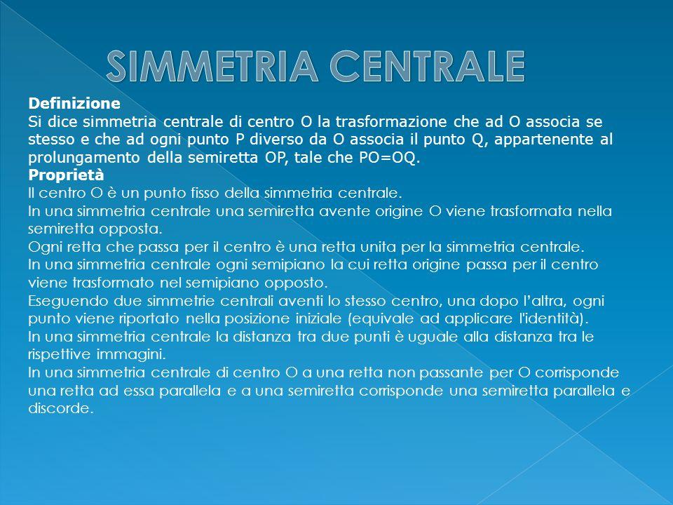 SIMMETRIA CENTRALE Definizione
