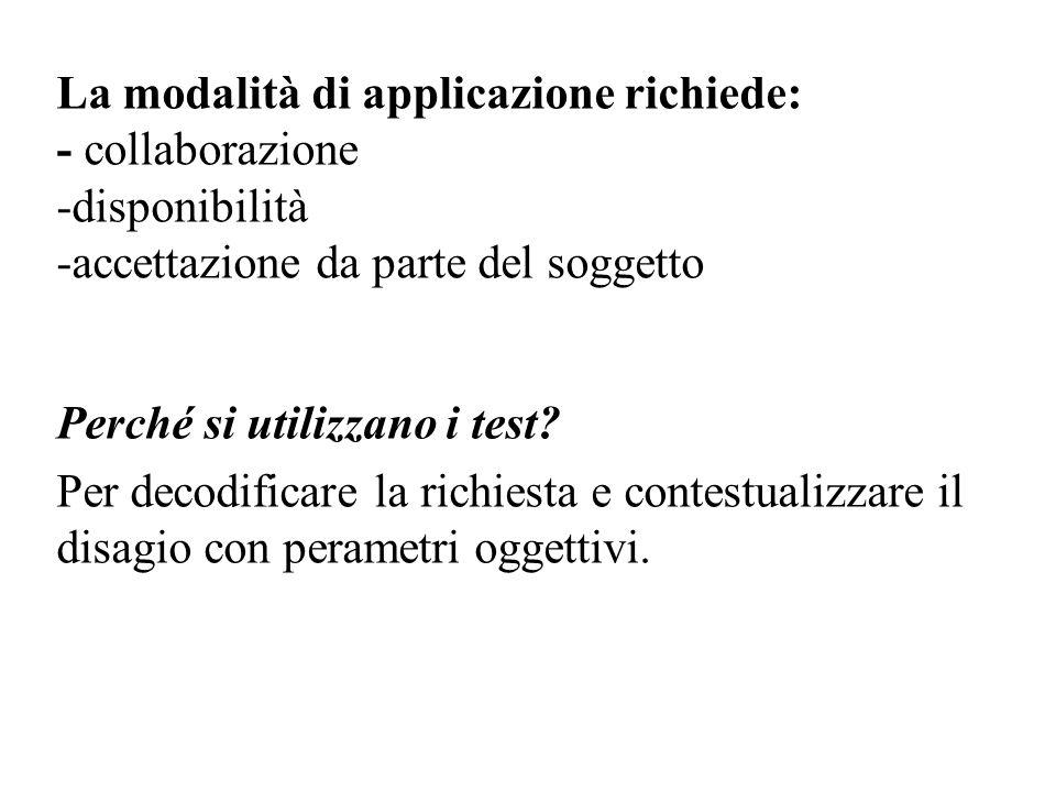 La modalità di applicazione richiede: - collaborazione -disponibilità -accettazione da parte del soggetto