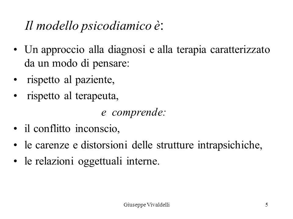 Il modello psicodiamico è: