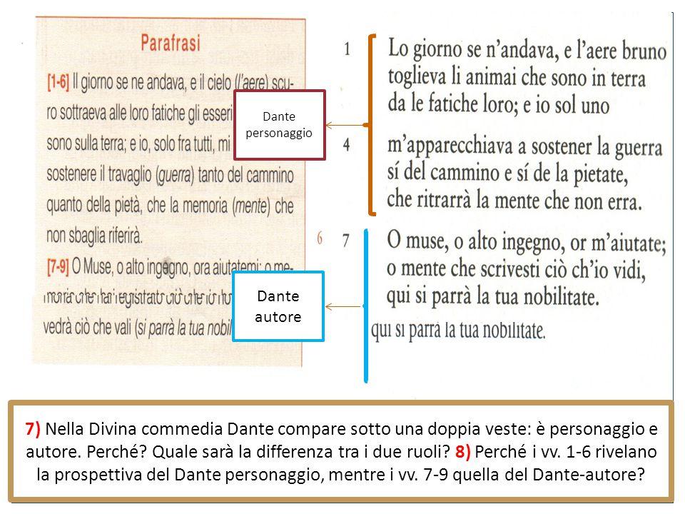Dante personaggio Dante autore.