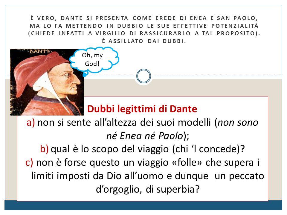 Dubbi legittimi di Dante