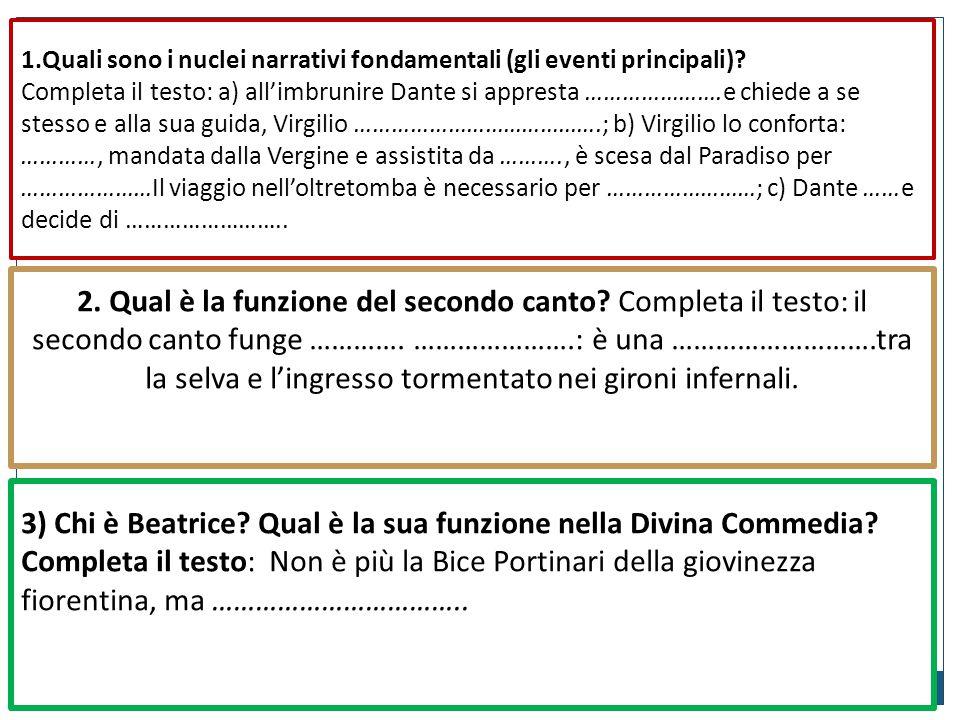 1.Quali sono i nuclei narrativi fondamentali (gli eventi principali)