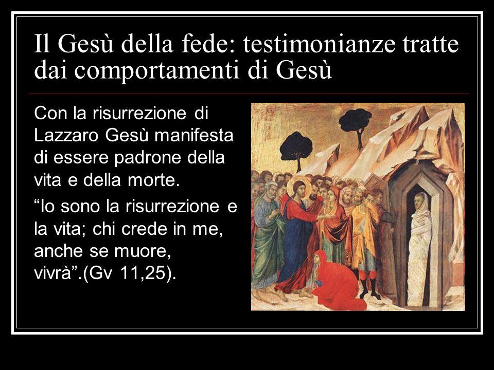 Il Gesù della fede: testimonianze tratte dai comportamenti di Gesù