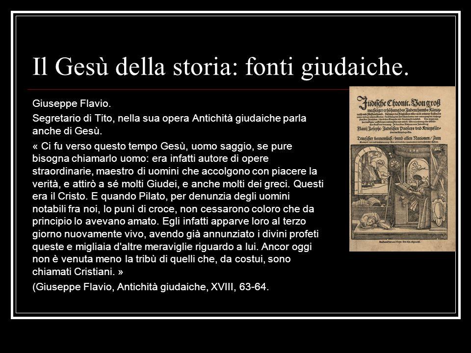Il Gesù della storia: fonti giudaiche.
