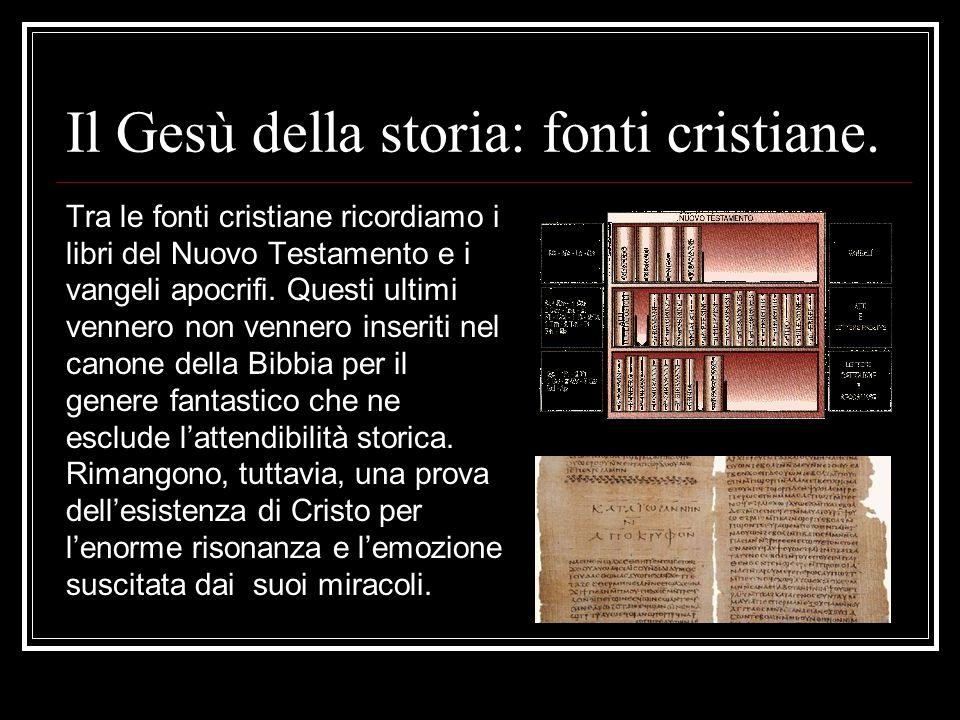 Il Gesù della storia: fonti cristiane.