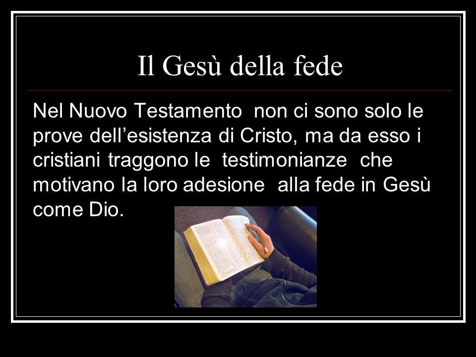 Il Gesù della fede