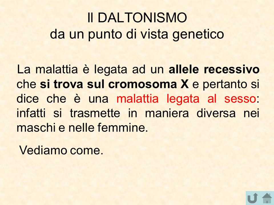Il DALTONISMO da un punto di vista genetico