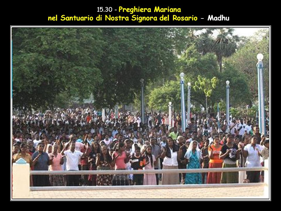 nel Santuario di Nostra Signora del Rosario - Madhu