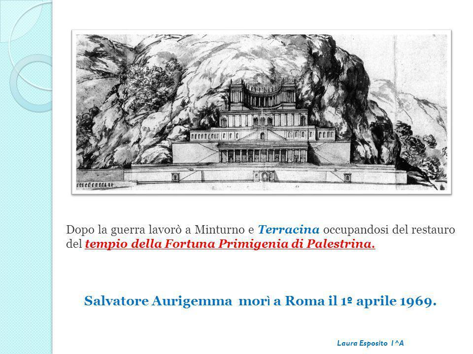 Salvatore Aurigemma morì a Roma il 1º aprile 1969.