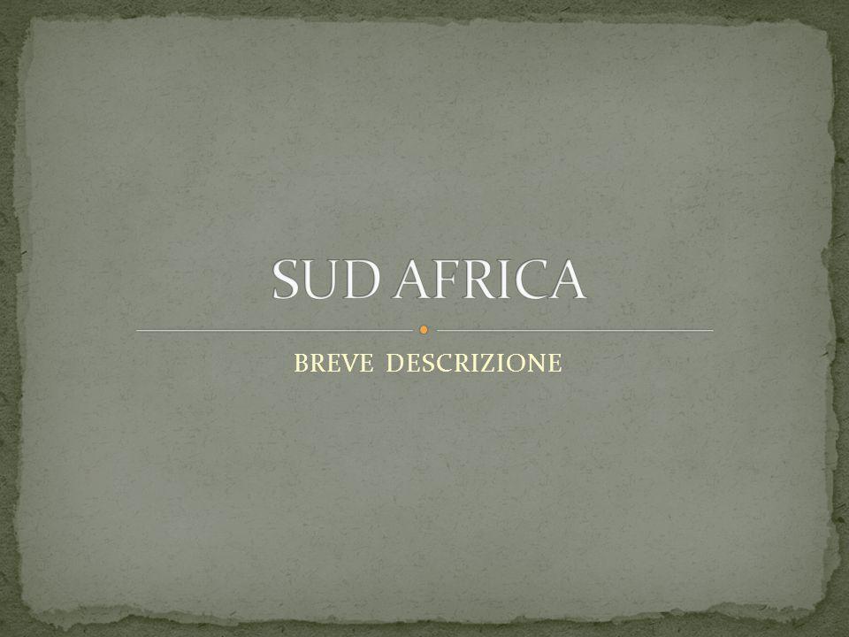 SUD AFRICA BREVE DESCRIZIONE