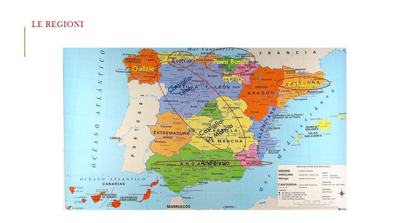 LE regioni Austria Paesi Baschi Galizia Castiglia- Leon Catalogna