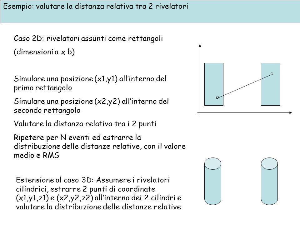 Esempio: valutare la distanza relativa tra 2 rivelatori