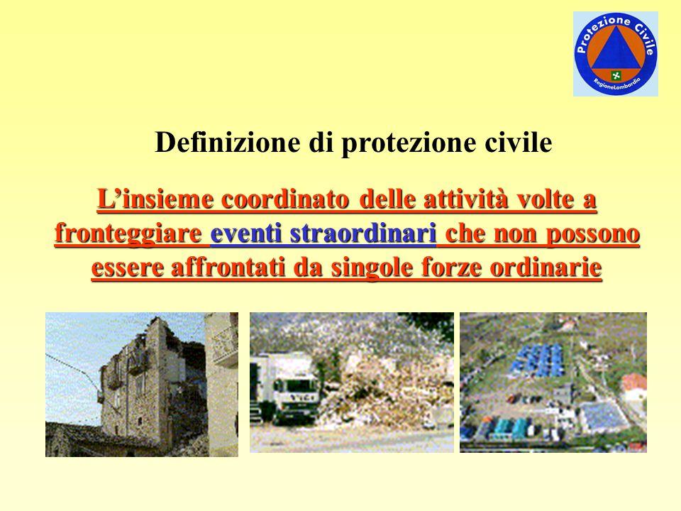 Definizione di protezione civile