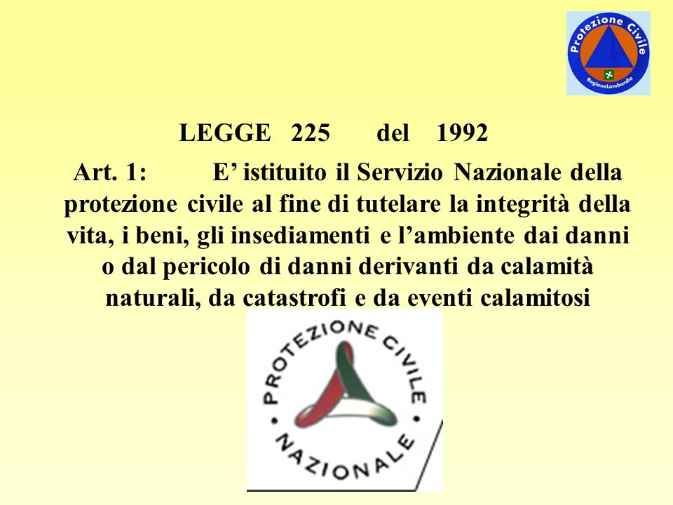 LEGGE 225 del 1992