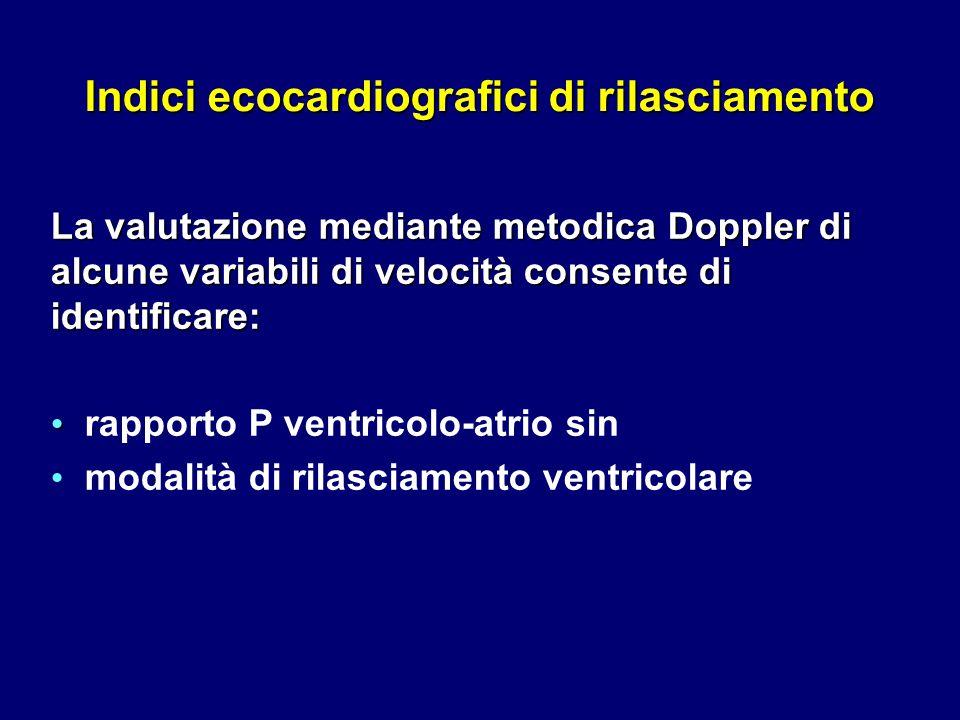 Indici ecocardiografici di rilasciamento