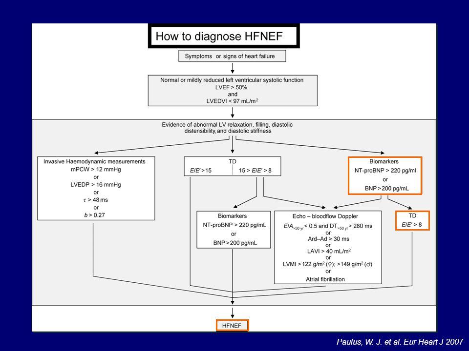 Il BNp è utile soprattutto quando ci troviamo di fronte a pazienti in cui il valore del rapporto tra onda E mitralica e onda E' del TDI cade nella zona grigia
