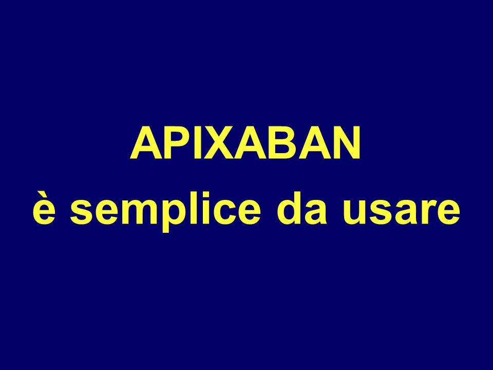 APIXABAN è semplice da usare