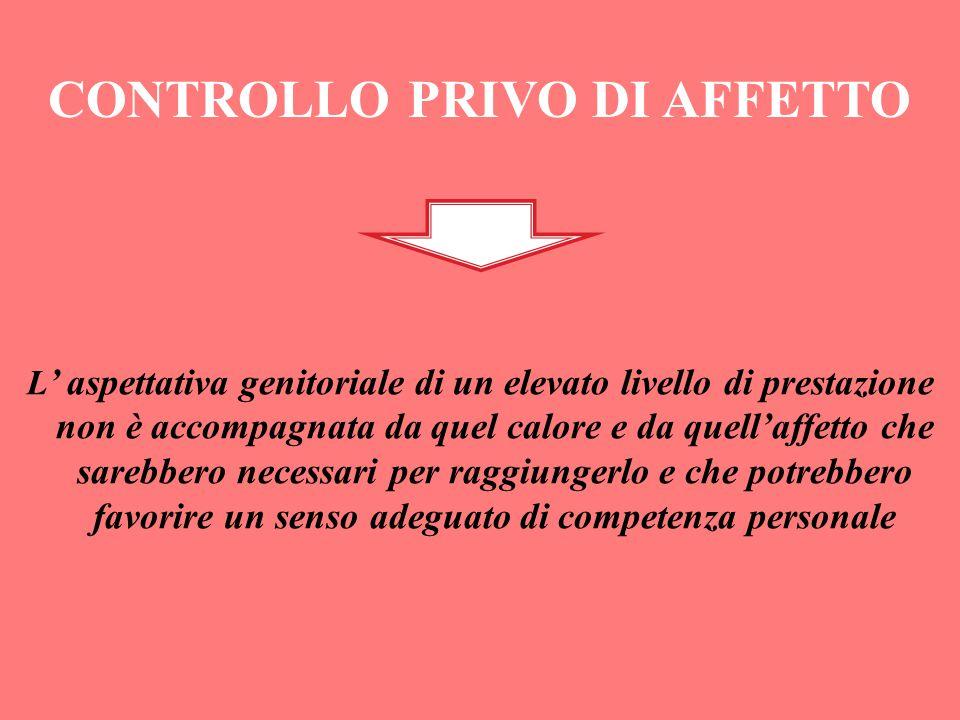 CONTROLLO PRIVO DI AFFETTO