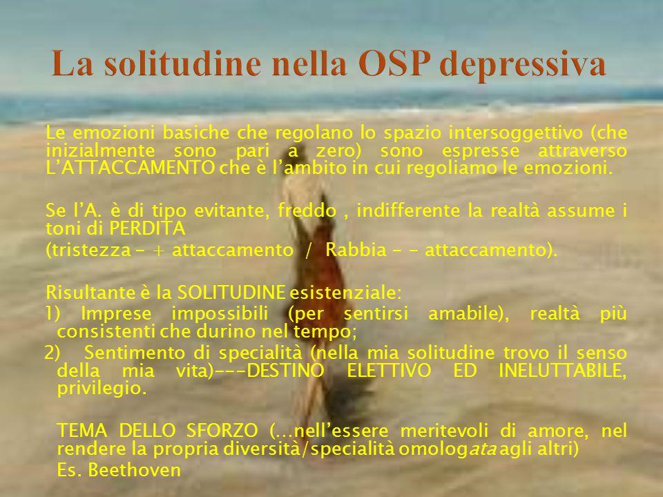 La solitudine nella OSP depressiva