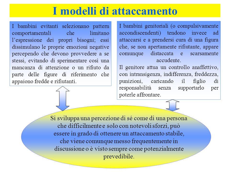 I modelli di attaccamento