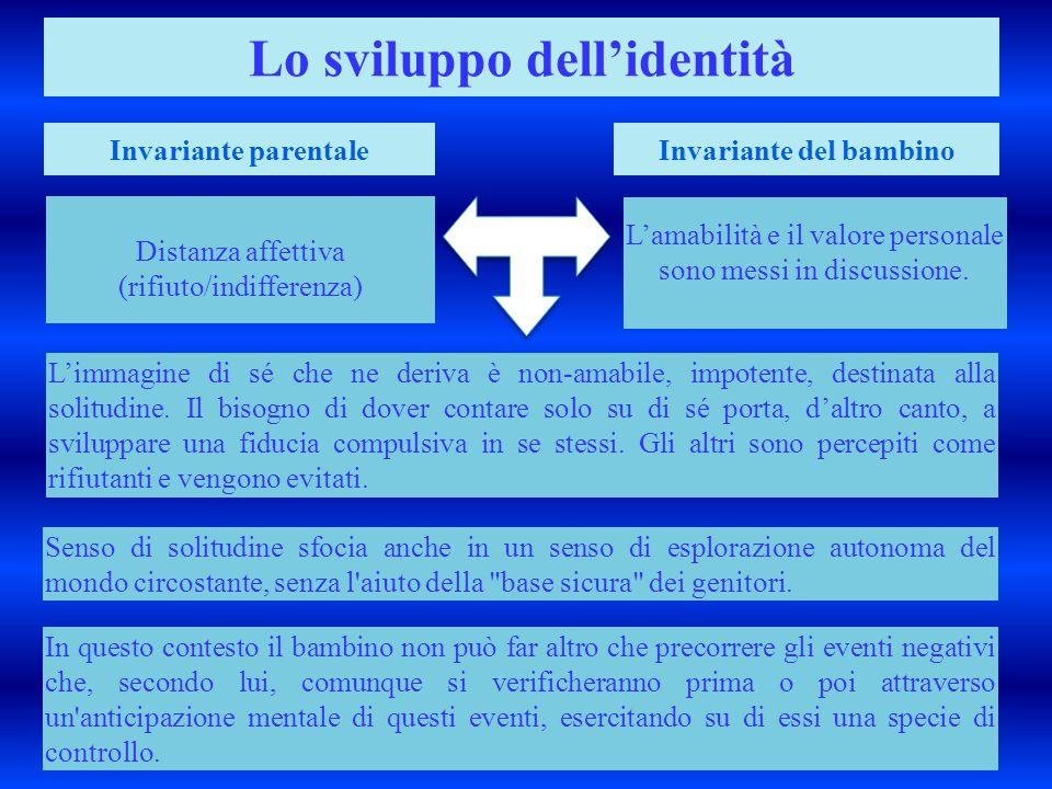 Lo sviluppo dell'identità Invariante del bambino