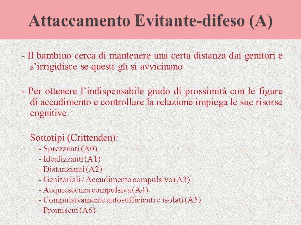 Attaccamento Evitante-difeso (A)