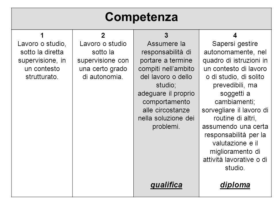Competenza qualifica diploma 1