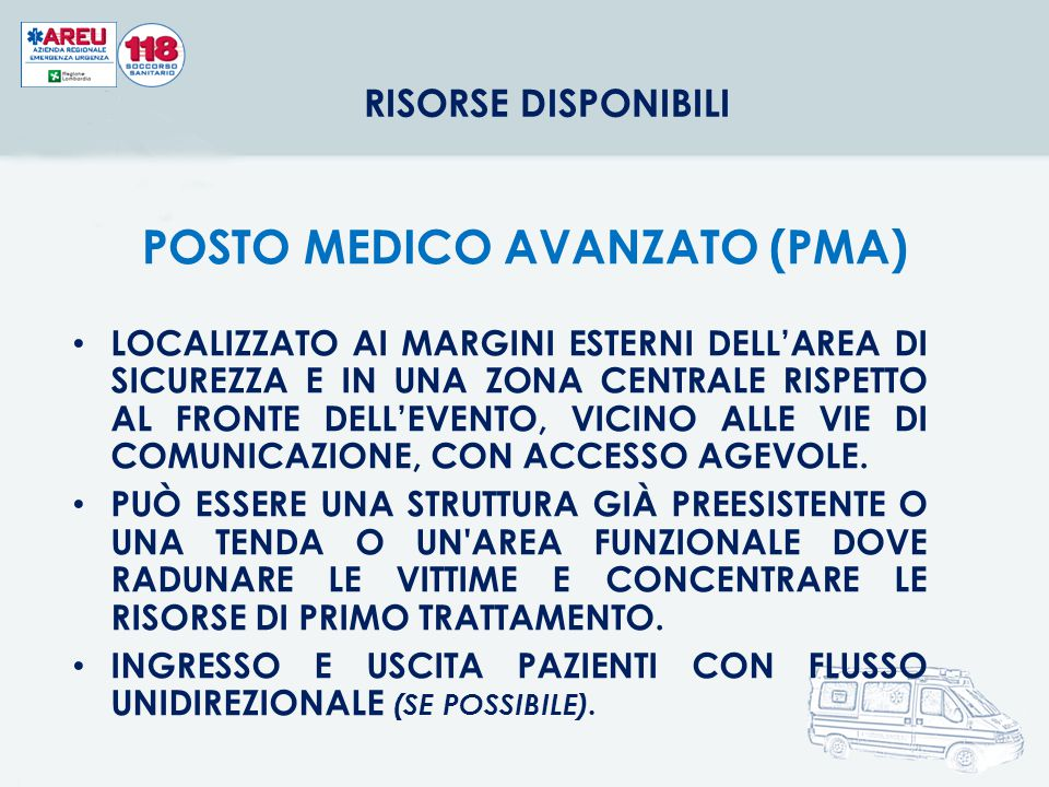 POSTO MEDICO AVANZATO (PMA)