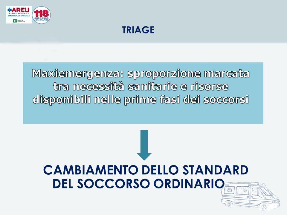 CAMBIAMENTO DELLO STANDARD DEL SOCCORSO ORDINARIO
