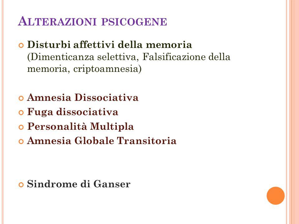 Alterazioni psicogene