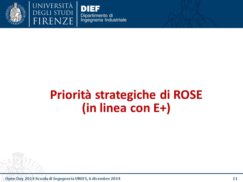 Priorità strategiche di ROSE (in linea con E+)