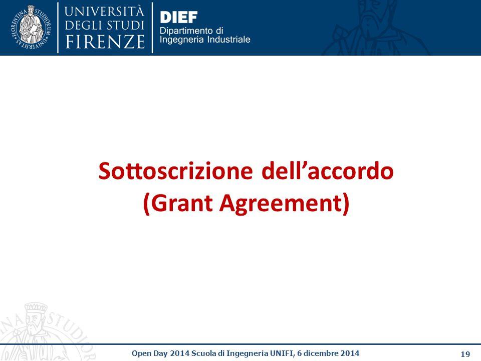 Sottoscrizione dell'accordo (Grant Agreement)