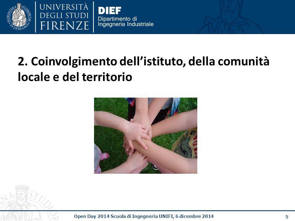 2. Coinvolgimento dell'istituto, della comunità locale e del territorio