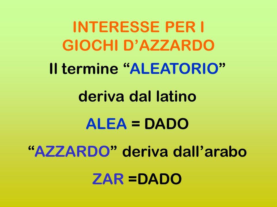 INTERESSE PER I GIOCHI D'AZZARDO