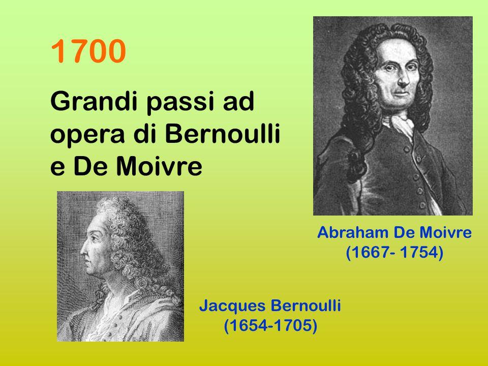 1700 Grandi passi ad opera di Bernoulli e De Moivre