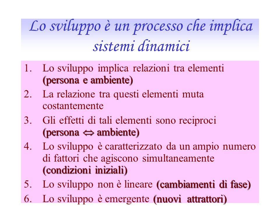 Lo sviluppo è un processo che implica sistemi dinamici