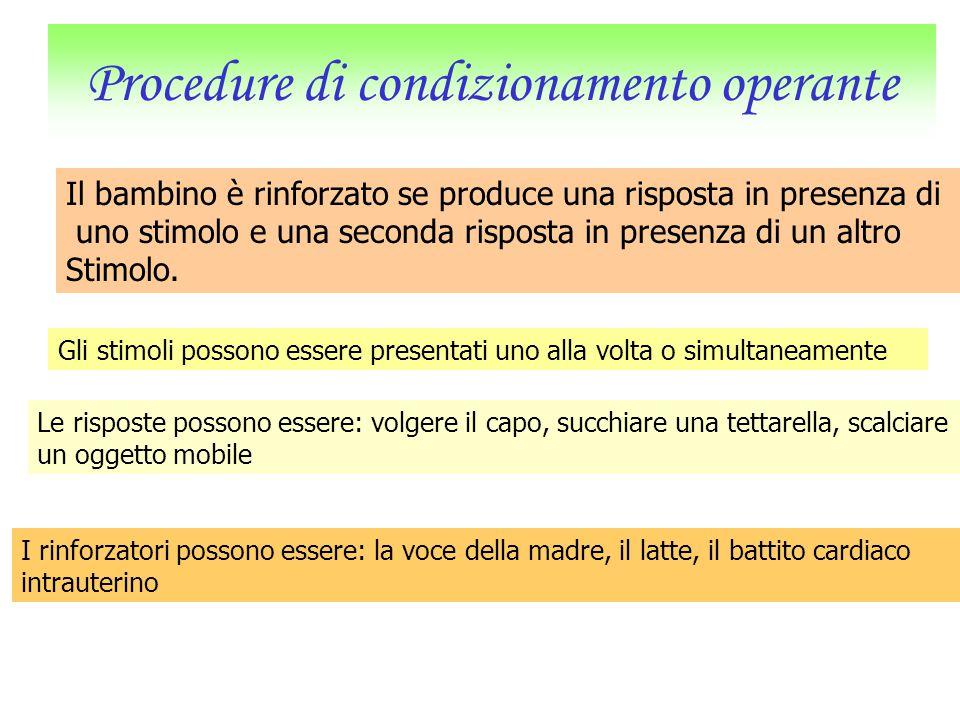 Procedure di condizionamento operante