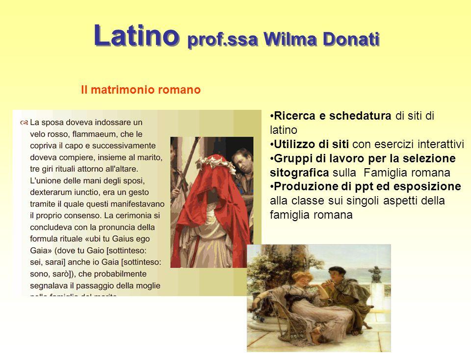 Latino prof.ssa Wilma Donati