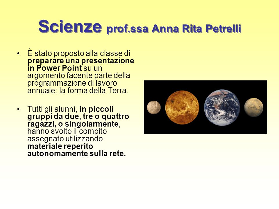 Scienze prof.ssa Anna Rita Petrelli