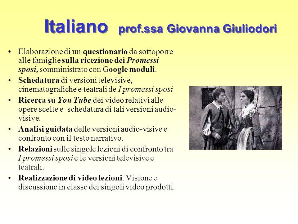Italiano prof.ssa Giovanna Giuliodori