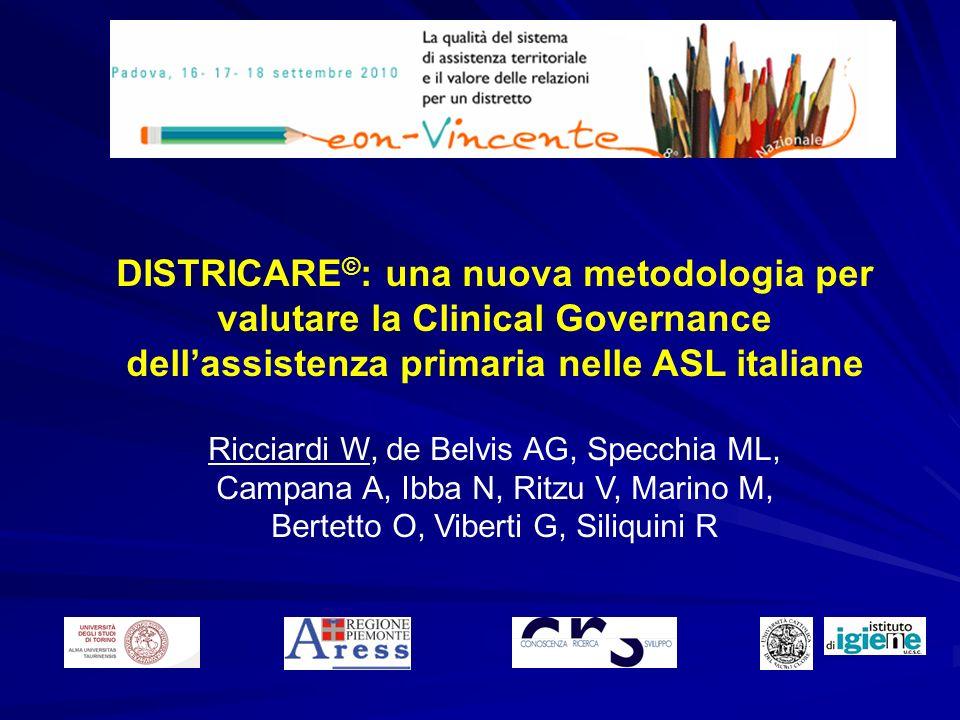 DISTRICARE©: una nuova metodologia per valutare la Clinical Governance dell'assistenza primaria nelle ASL italiane