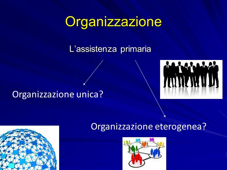 Organizzazione Organizzazione unica Organizzazione eterogenea