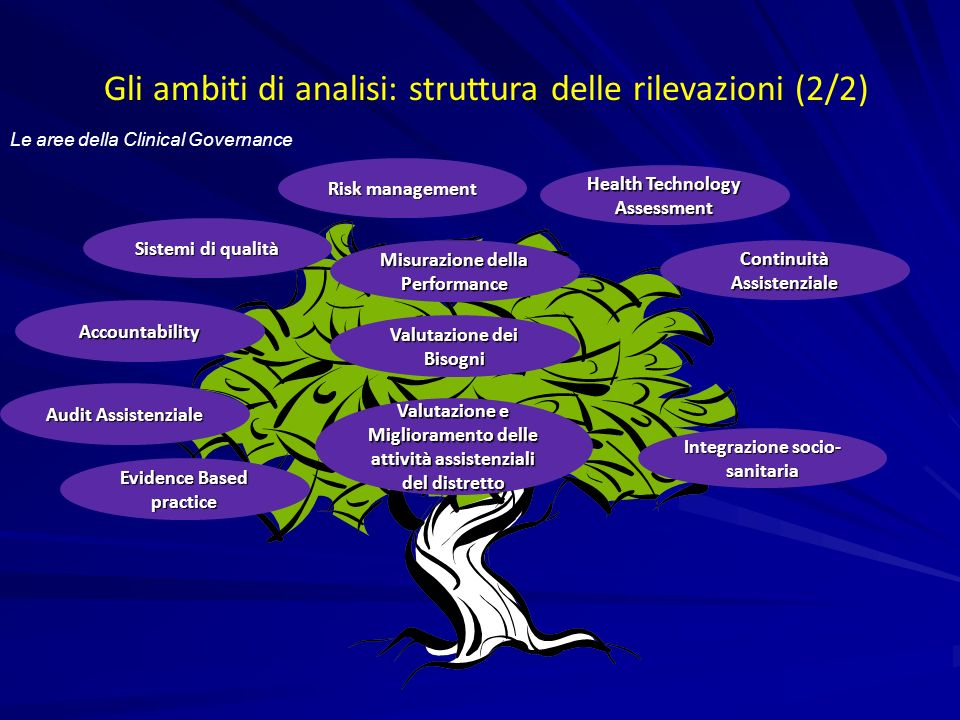 Gli ambiti di analisi: struttura delle rilevazioni (2/2)