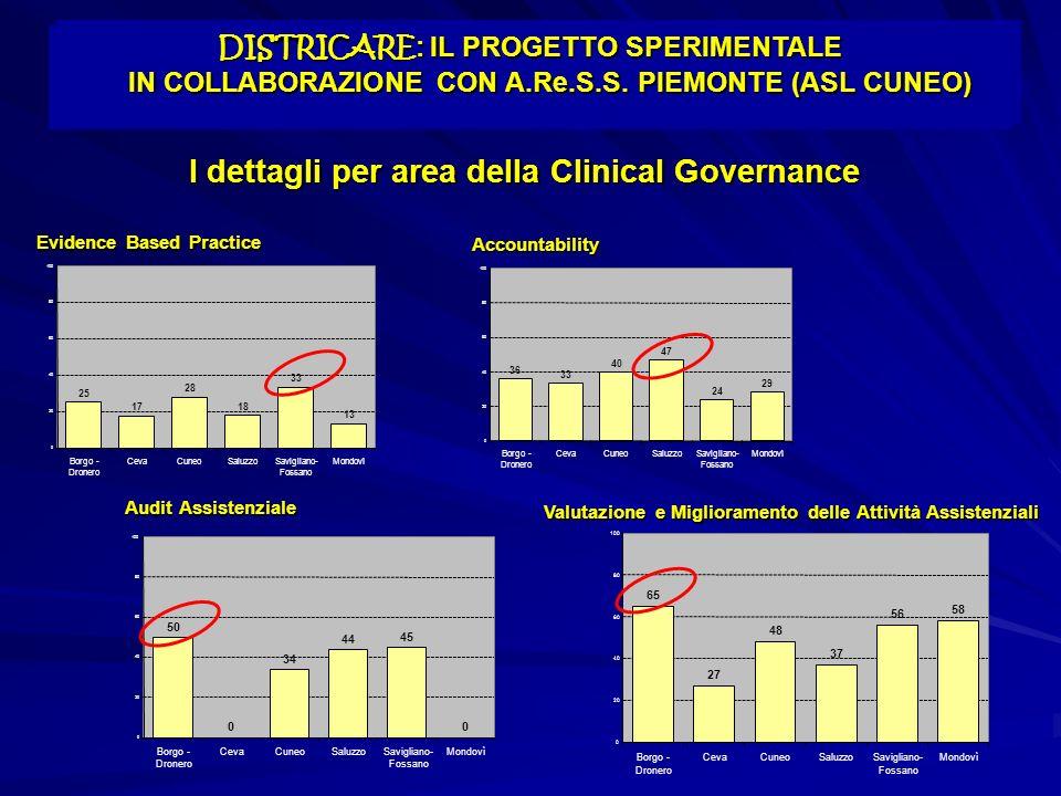 I dettagli per area della Clinical Governance
