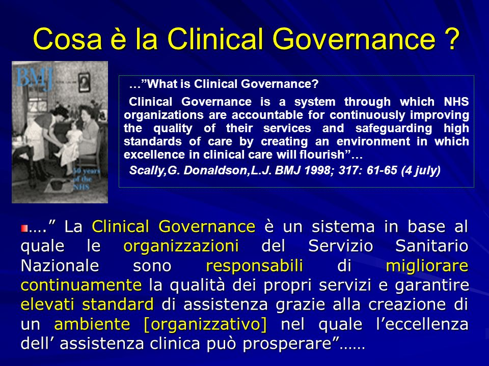 Cosa è la Clinical Governance