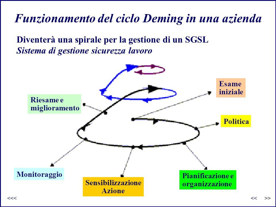 Funzionamento del ciclo Deming in una azienda