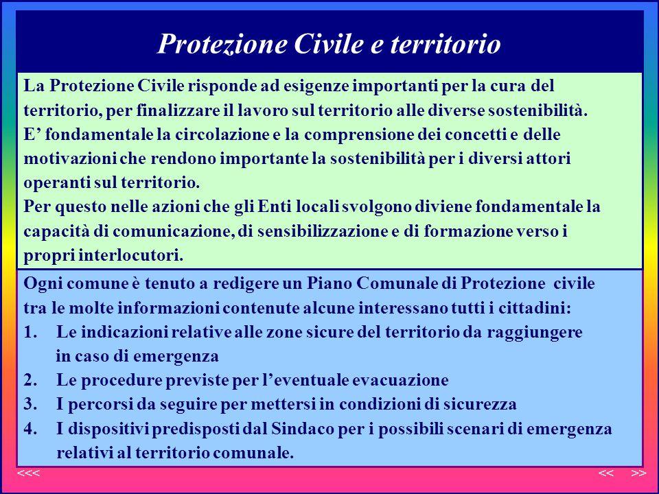 Protezione Civile e territorio