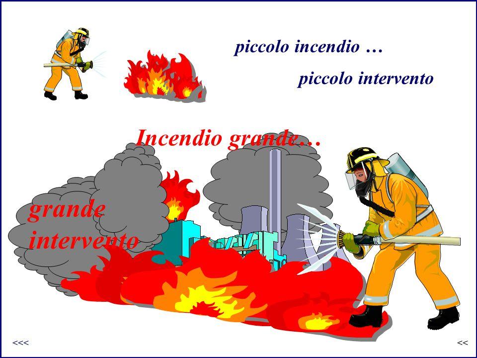 grande intervento Incendio grande… piccolo incendio …