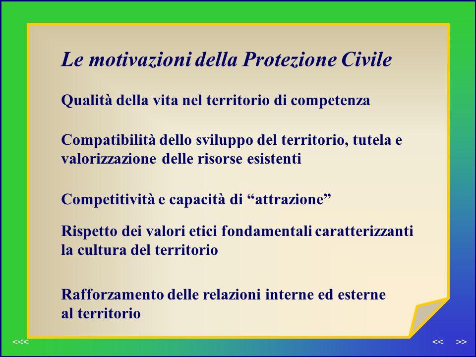 Le motivazioni della Protezione Civile